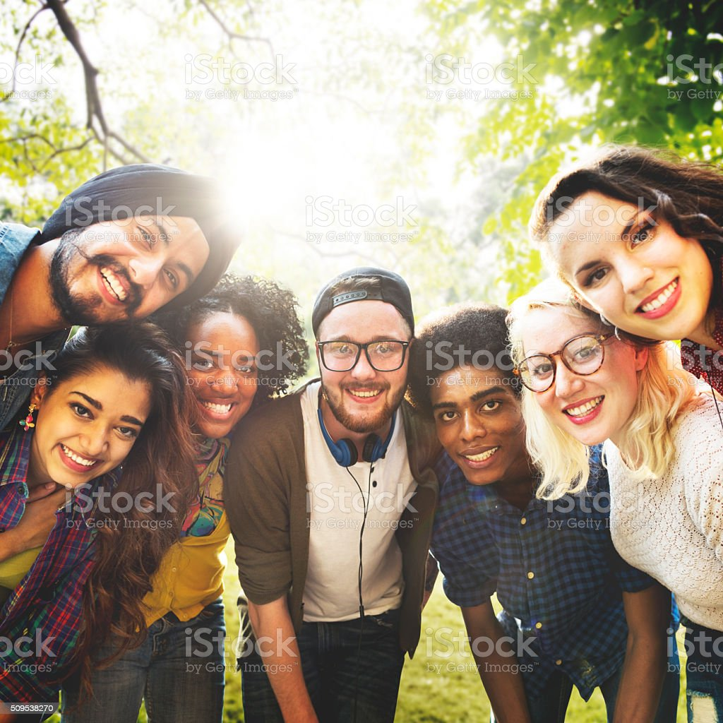 Diversity Friends Friendship Team Community Concept stock photo