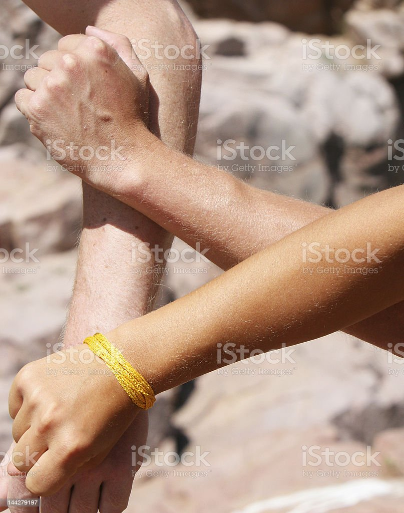 Diversity in Arms royalty-free stock photo