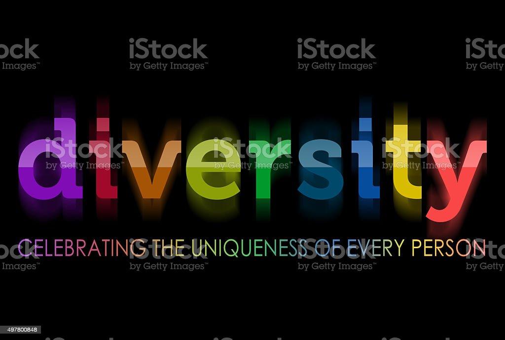 Diversity in rainbow colors stock photo