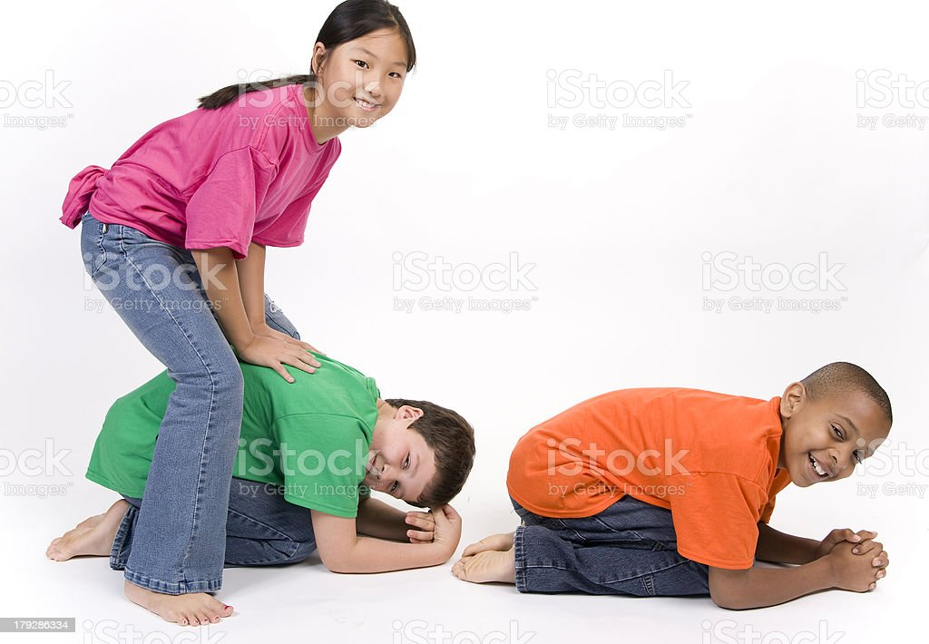 Diversity Leap Frog stock photo