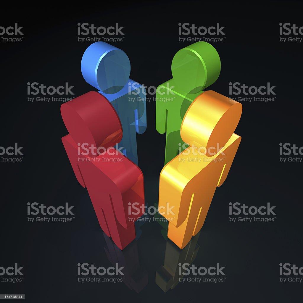 Diversity Meeting royalty-free stock photo