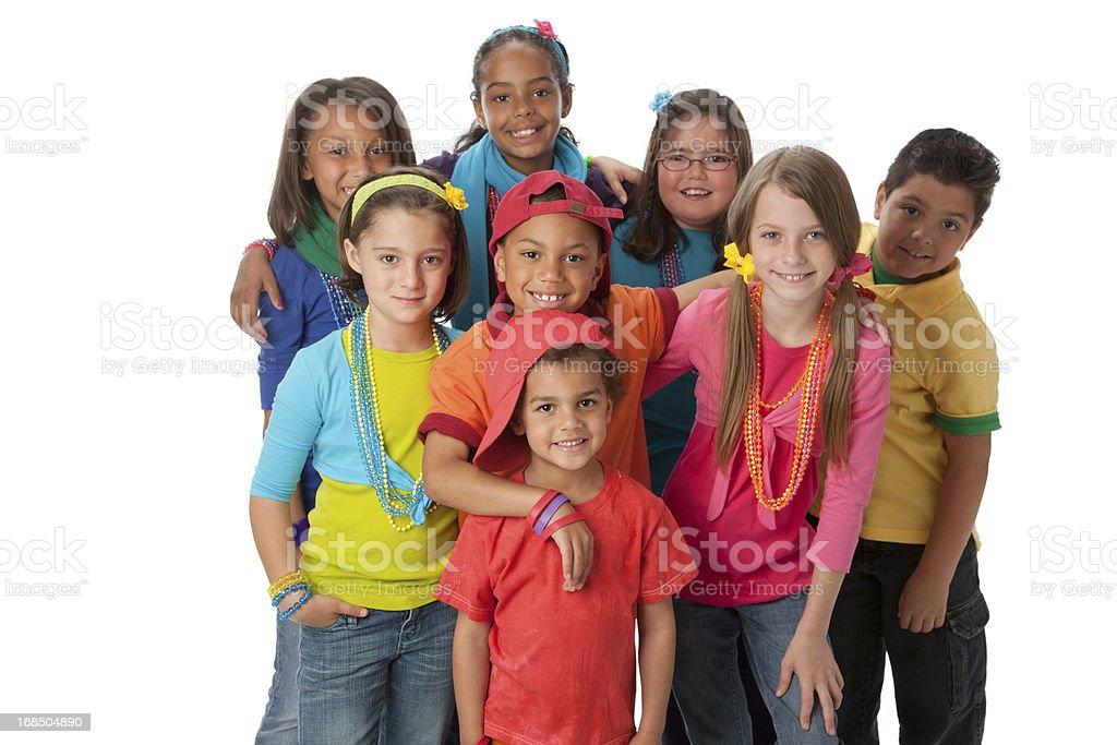 Diversity: Multi-Racial Group of Children Friendship Teamwork Colorful stock photo