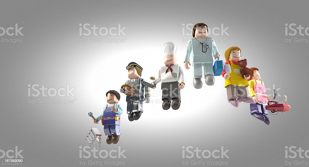 Diversity occupations people royalty-free stock photo