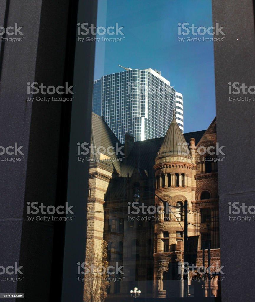 diversity of urban city architecture stock photo