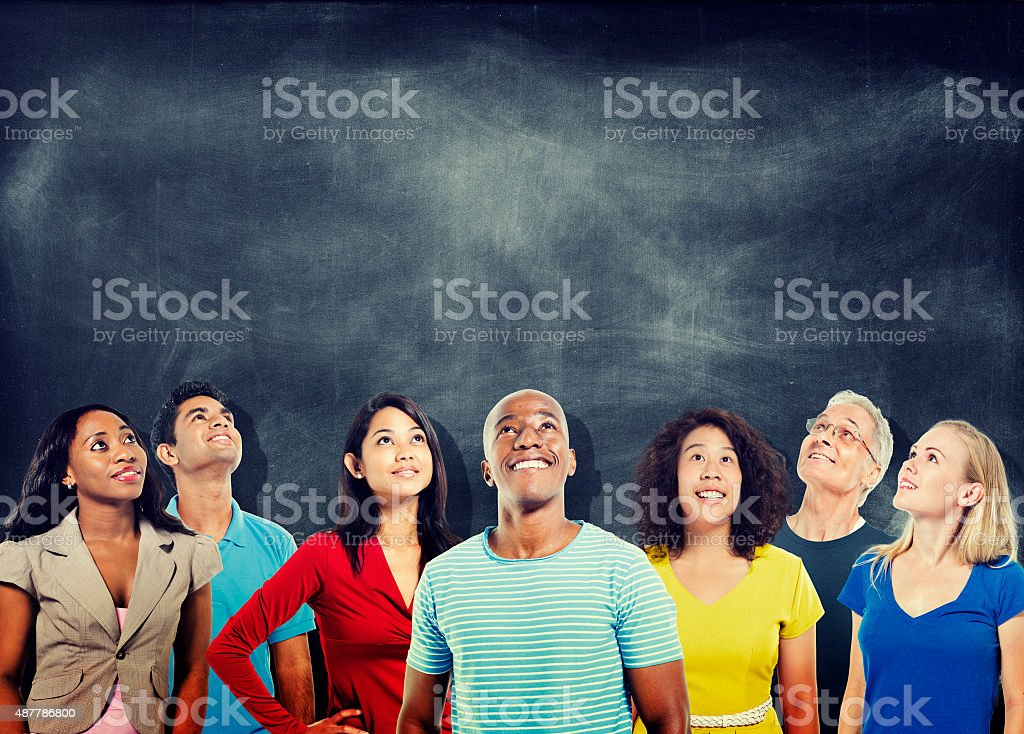 Diversity People Ideas Thinking Looking up Study Group Concept stock photo