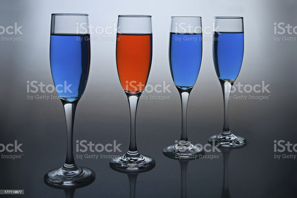 Diversity - Red and Blue royalty-free stock photo