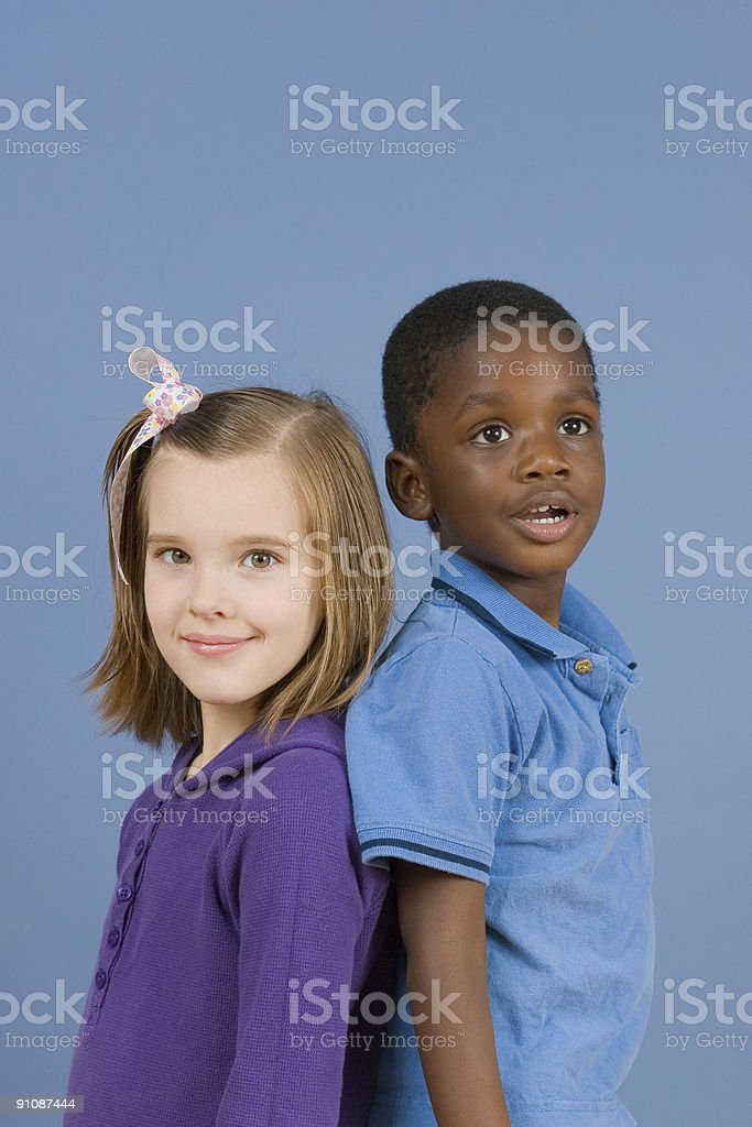Diversity Series - Friends royalty-free stock photo