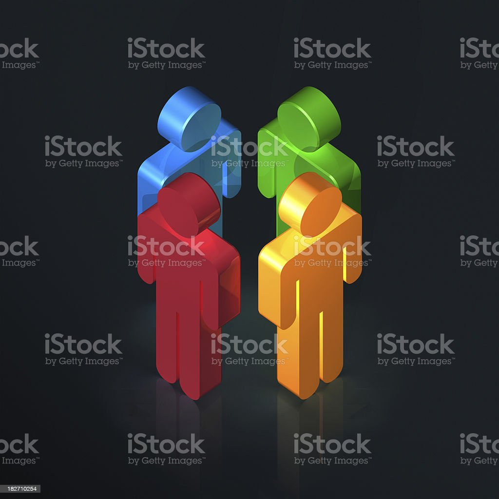 Diversity talk royalty-free stock photo