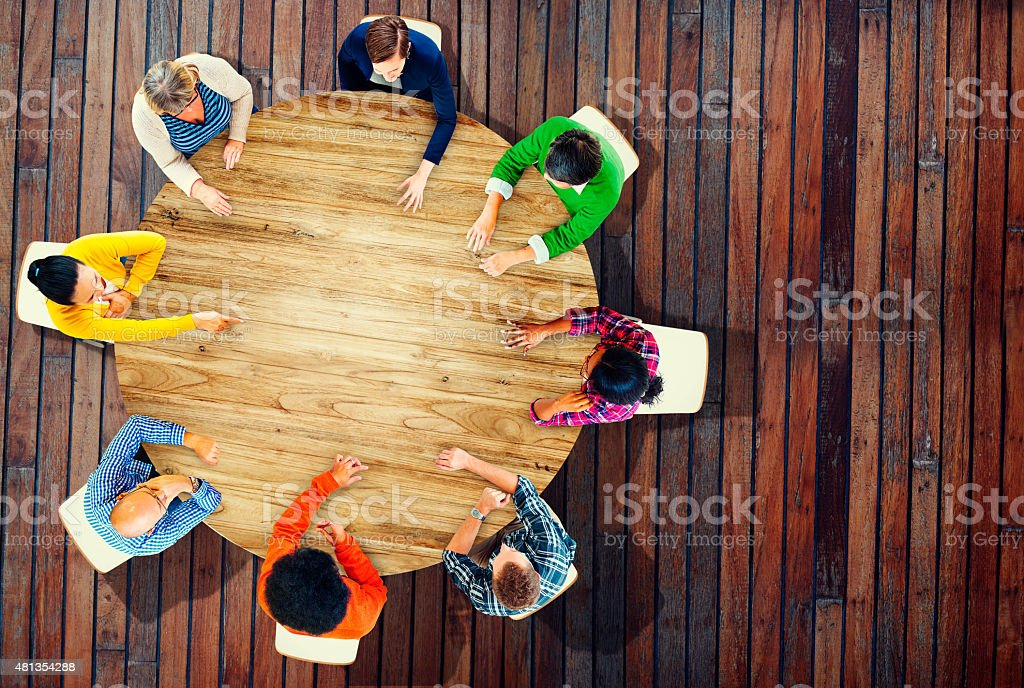 Diversity Team Planning Project Meeting Strategy Concept stock photo