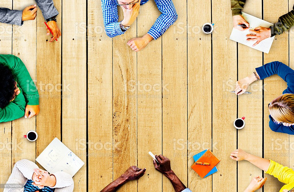 Diversity Teamwork Discussion Meeting Planning Concept stock photo
