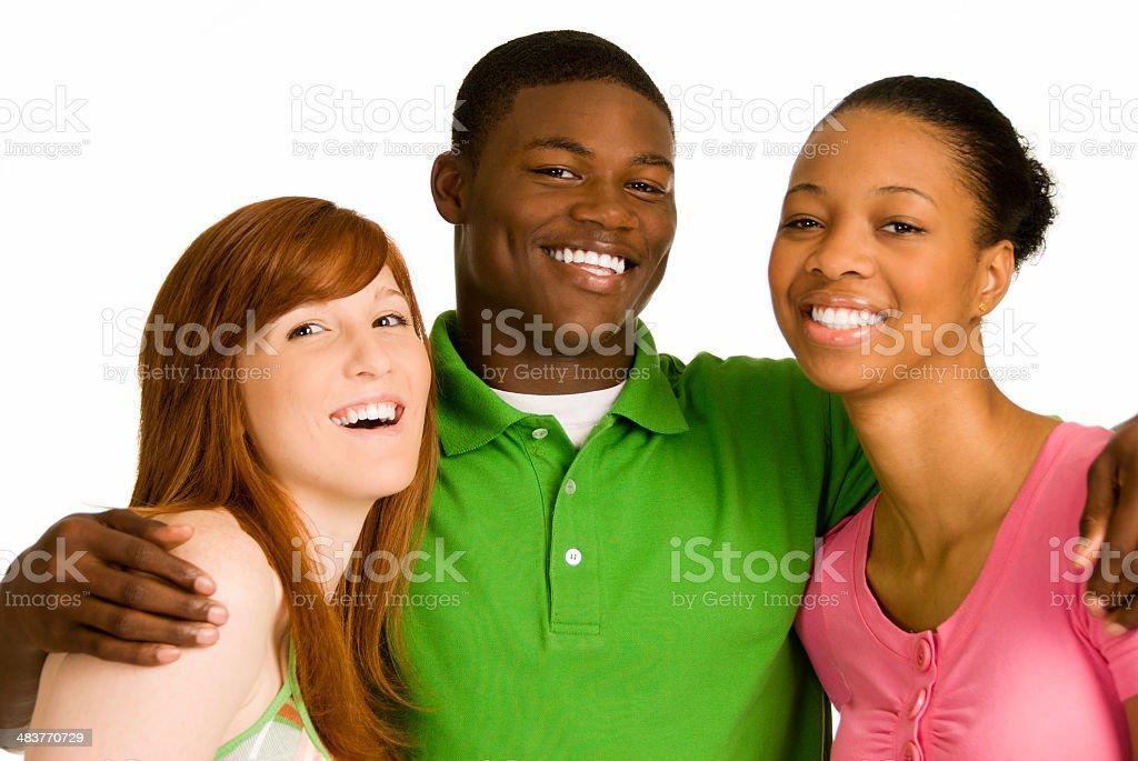 Diversity Teens royalty-free stock photo