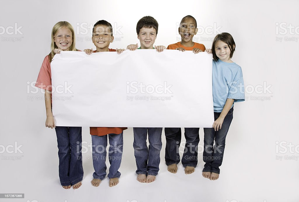 Diversity with Banner stock photo