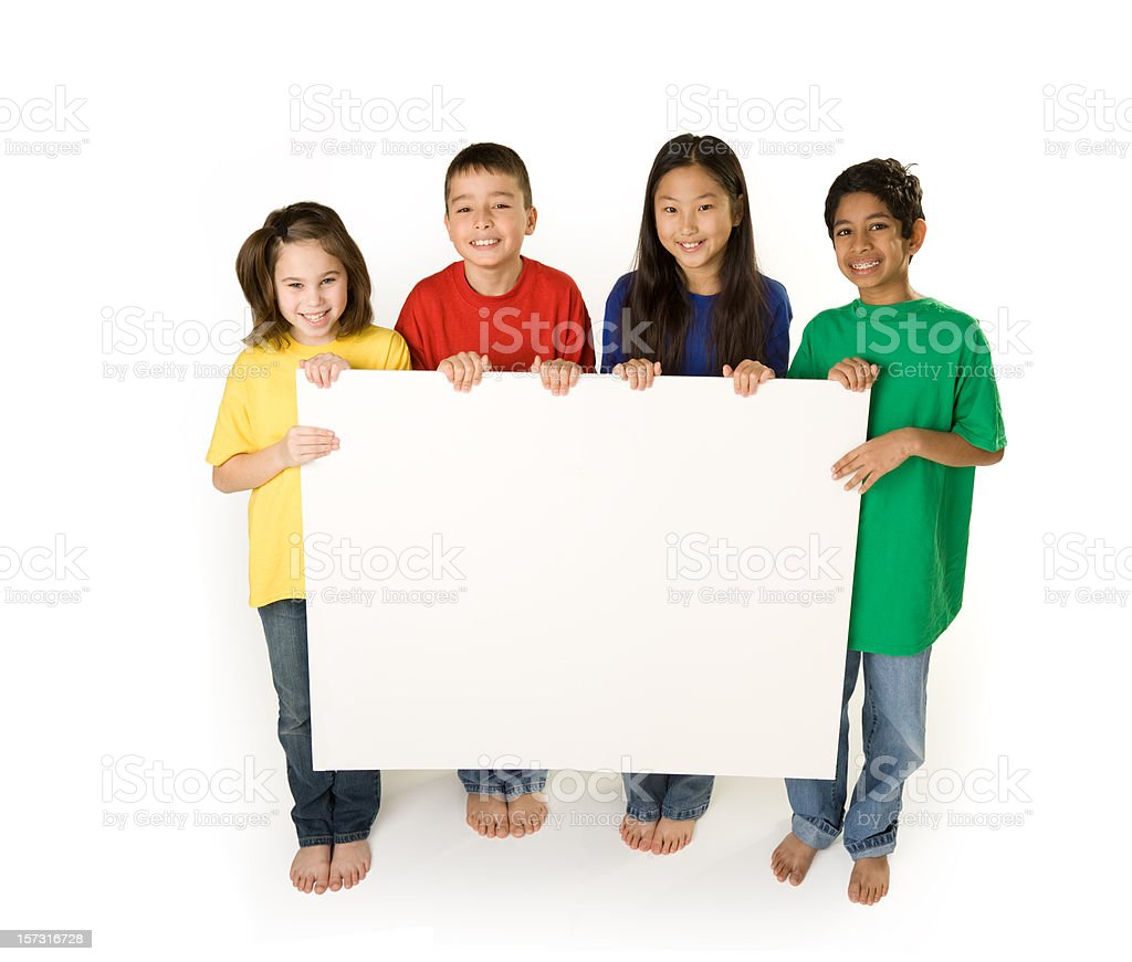 Diversity with Sign stock photo