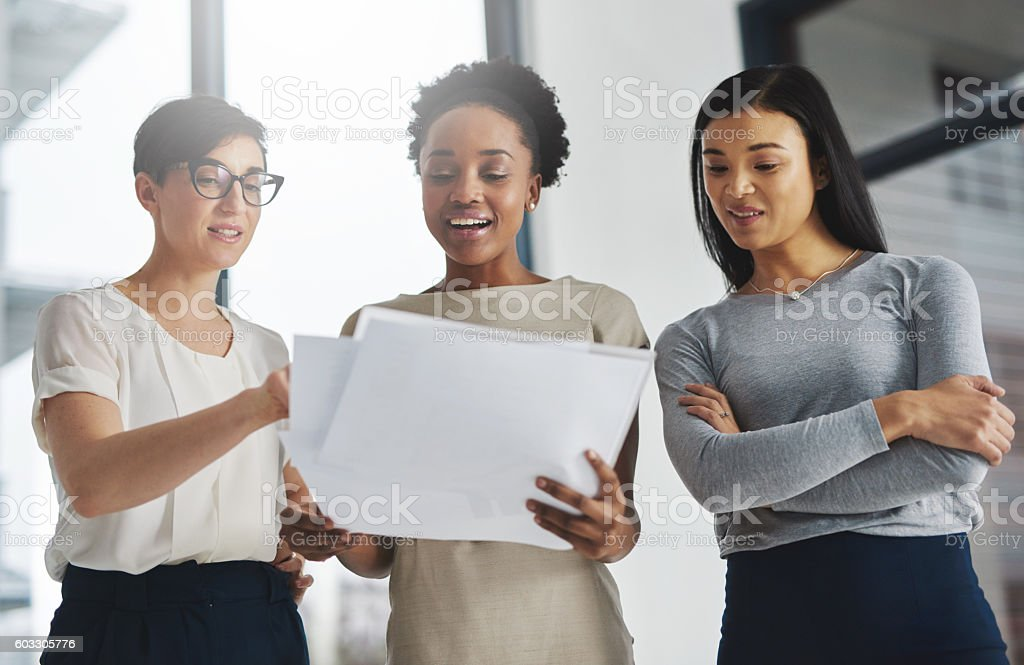 Divide the task, share the success stock photo