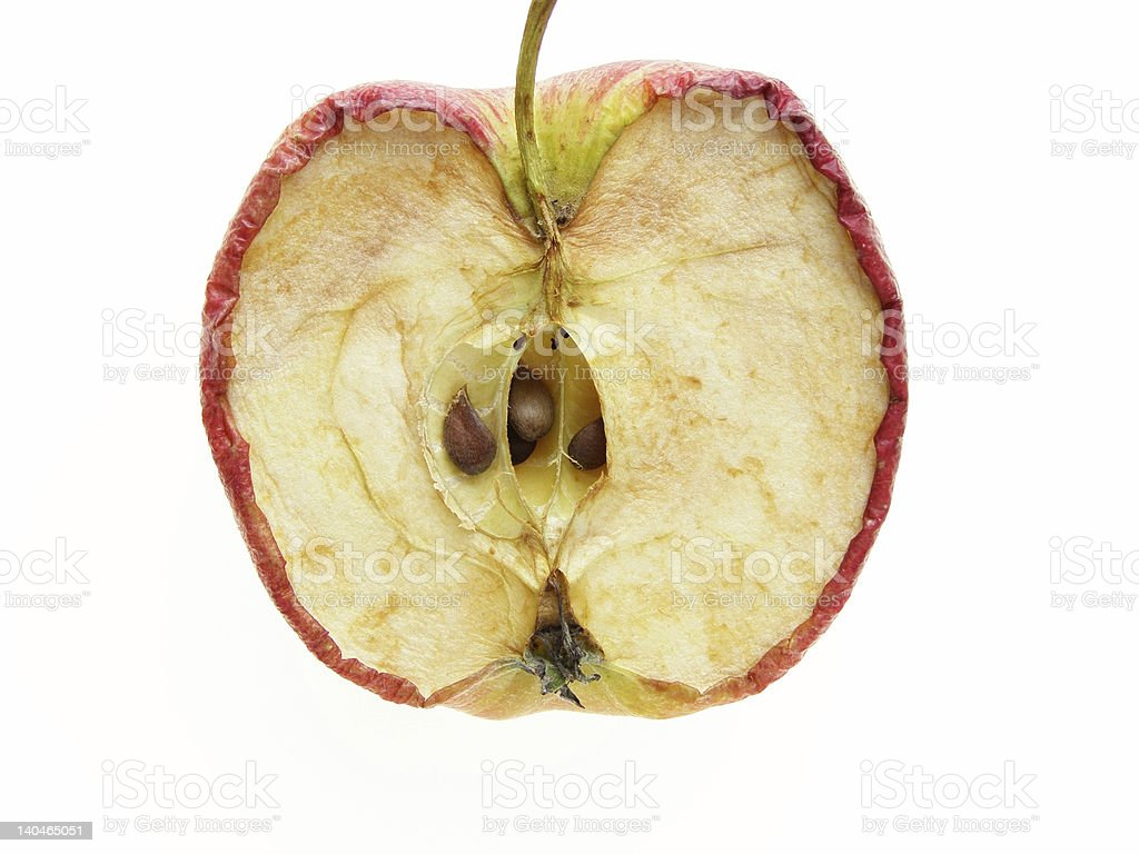 divided apple royalty-free stock photo