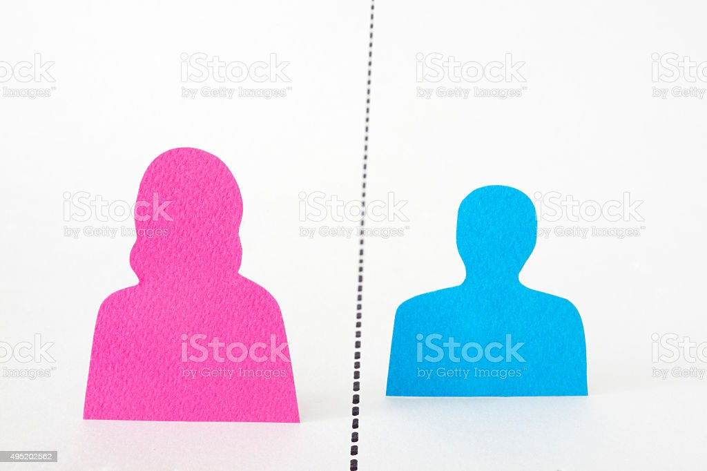 Divided couple stock photo