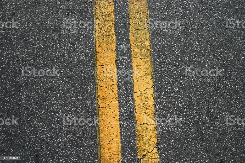Divided Road: Which side are you on? royalty-free stock photo