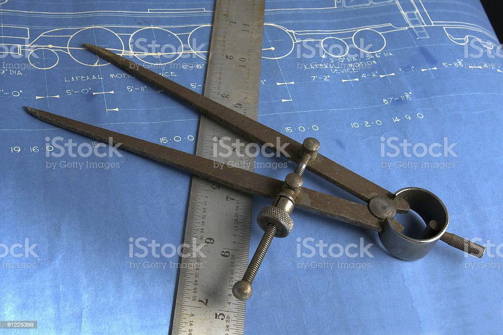 Dividers and Blueprint royalty-free stock photo