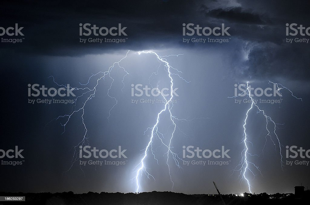 Divine Light 4, storm is coming stock photo
