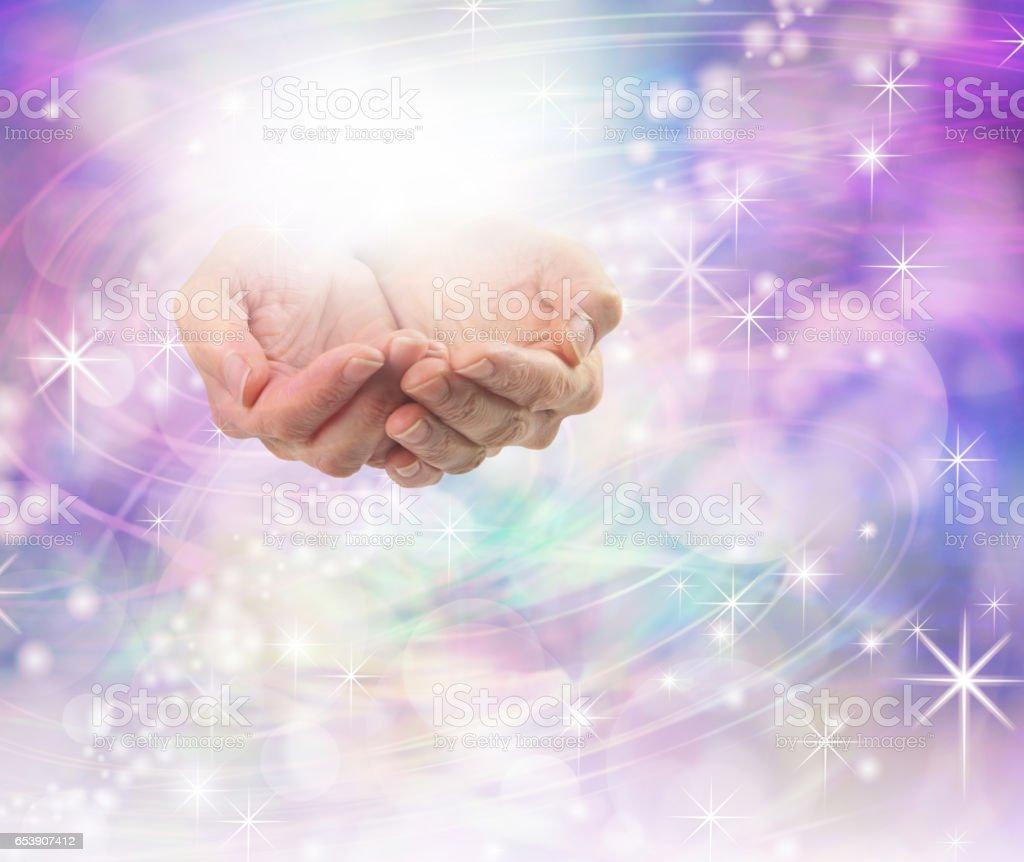 Divine Light Healing Energy stock photo