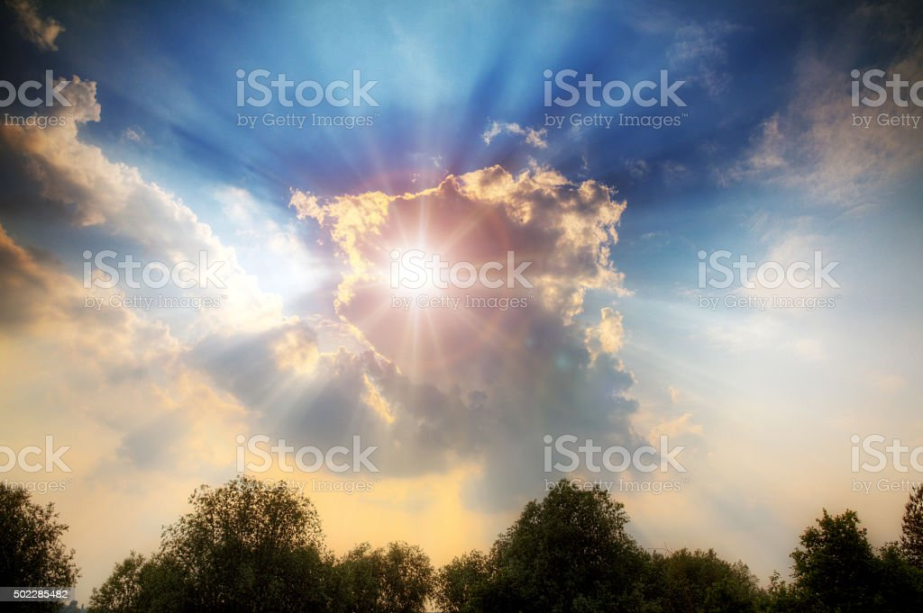 Divine light stock photo