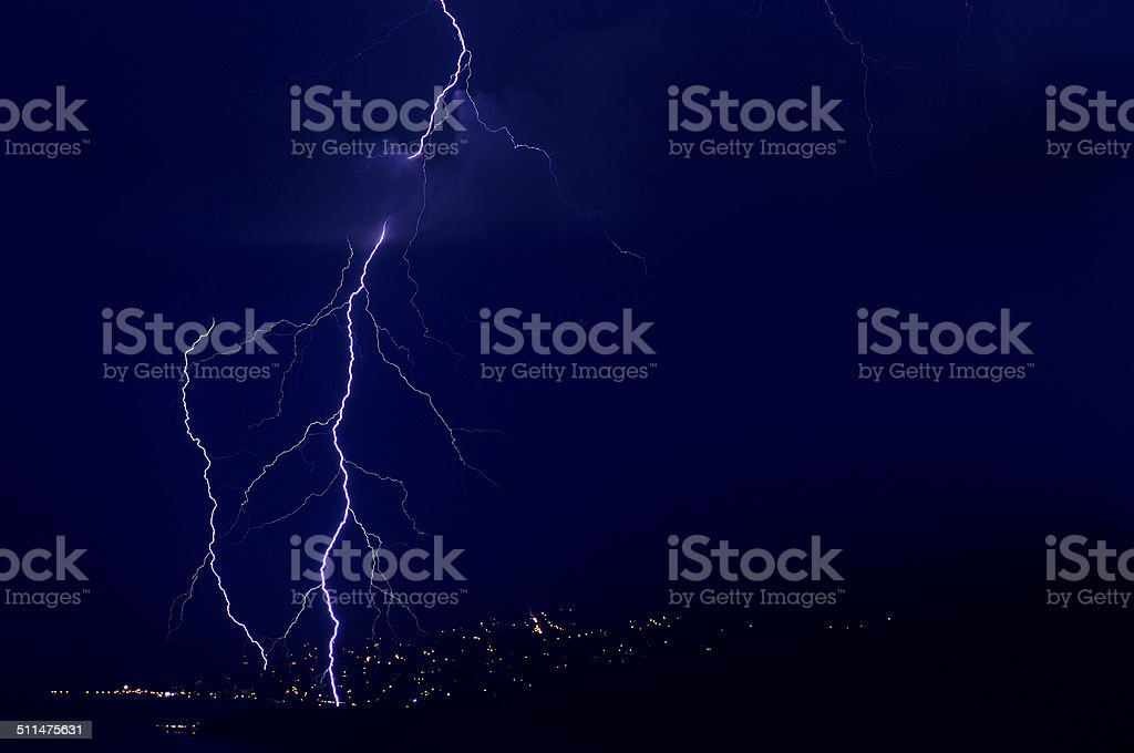Divine Light , storm is coming stock photo