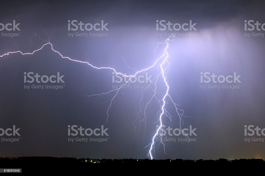 Divine Light, storm is coming stock photo