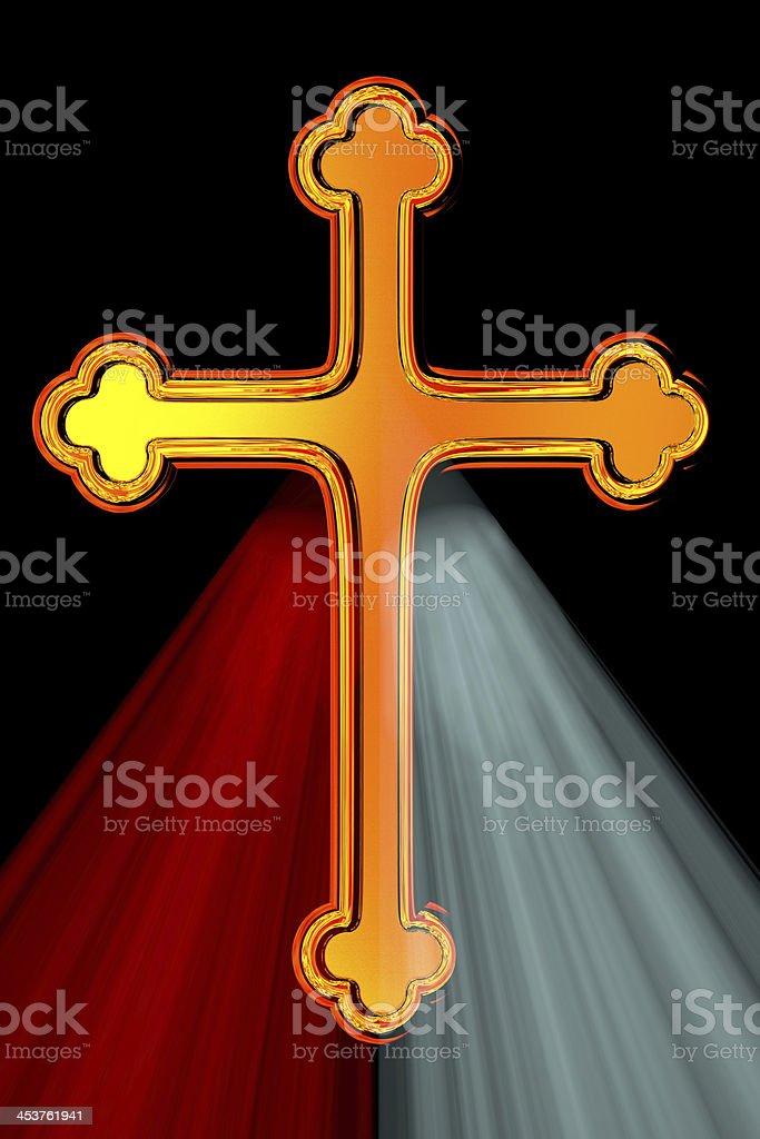 Divine Mercy Cross stock photo