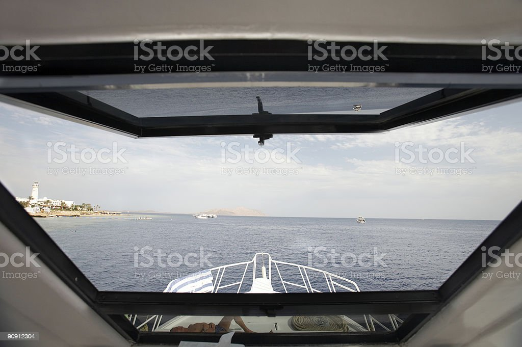 Diving boat royalty-free stock photo