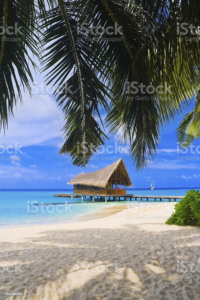Diving club on a tropical island royalty-free stock photo
