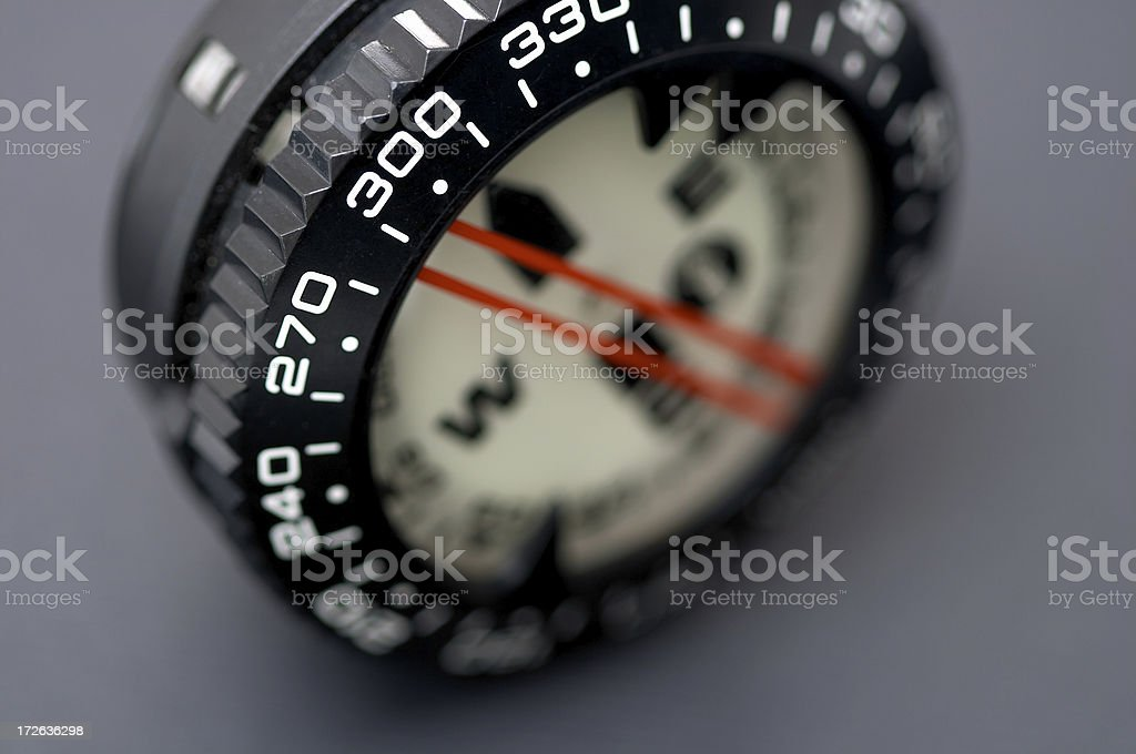 diving compass & direction royalty-free stock photo