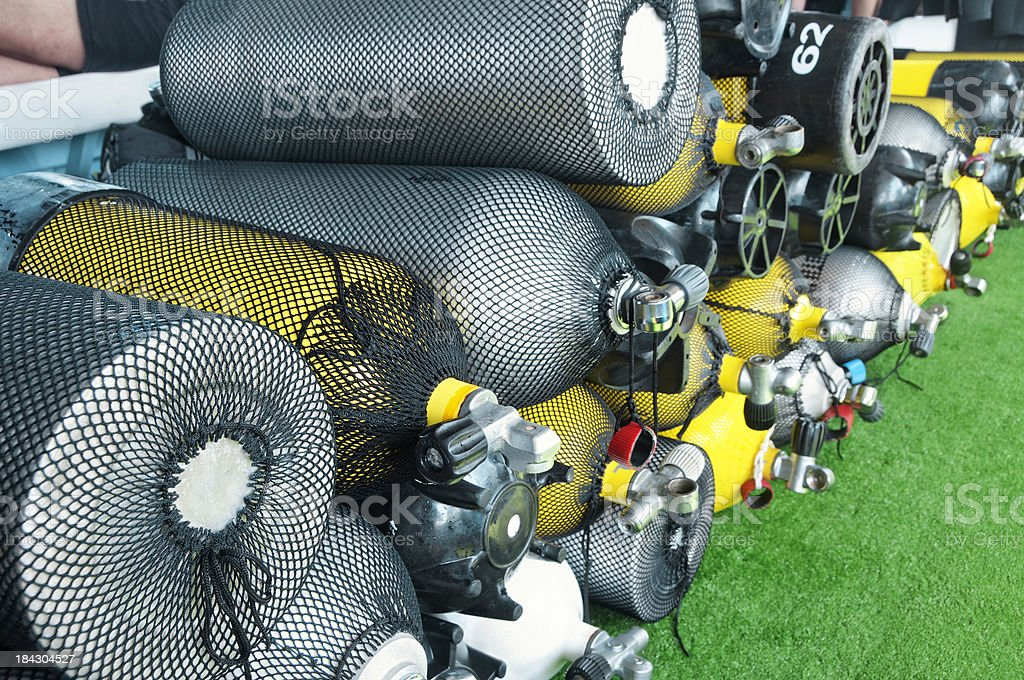Diving Cylinders royalty-free stock photo