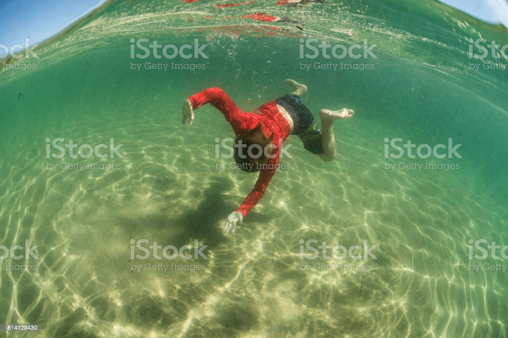 diving down stock photo
