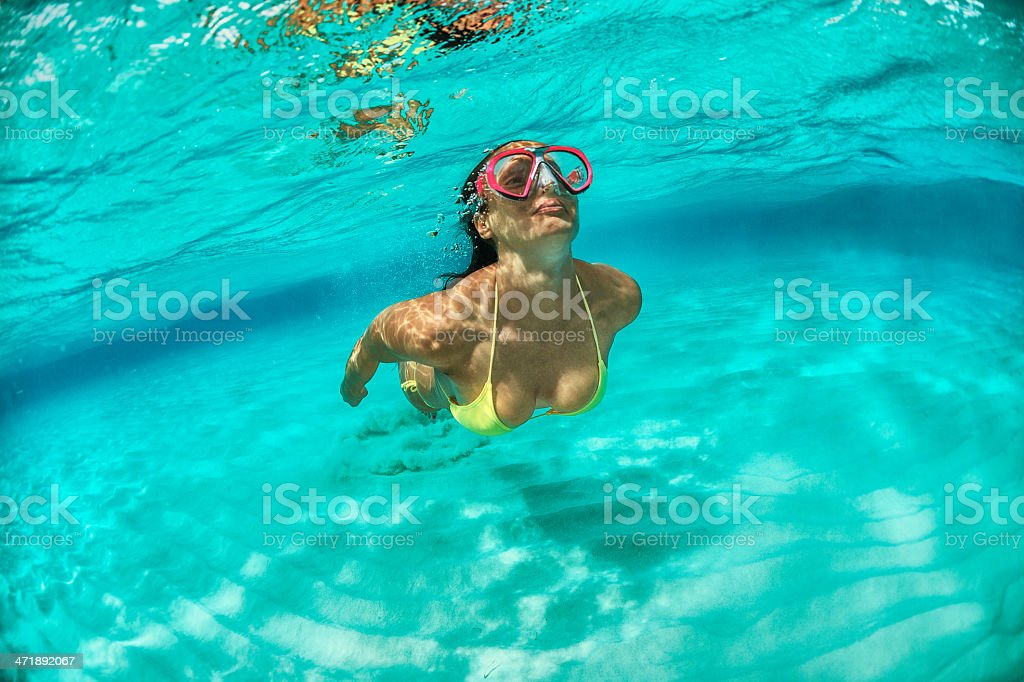 Diving exercise royalty-free stock photo