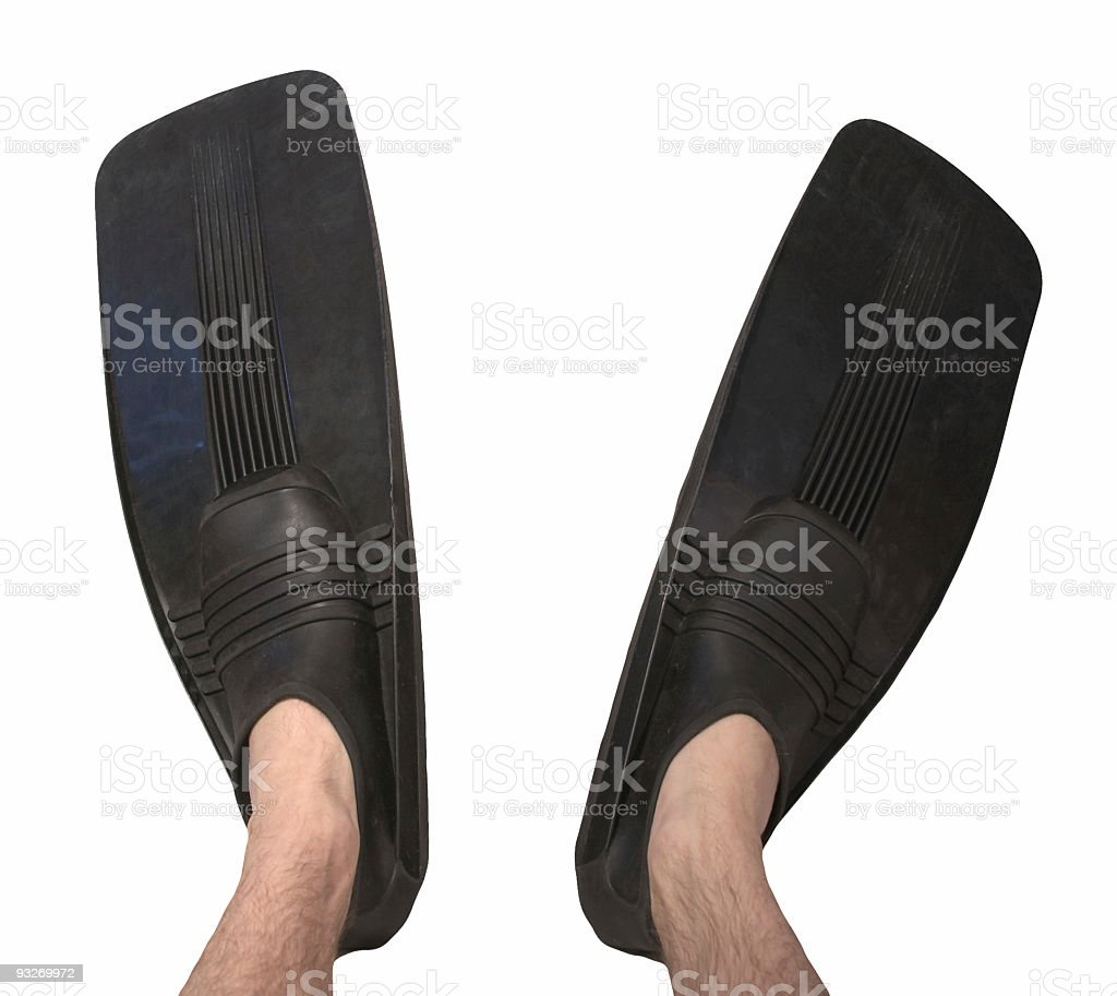 Diving Fins royalty-free stock photo