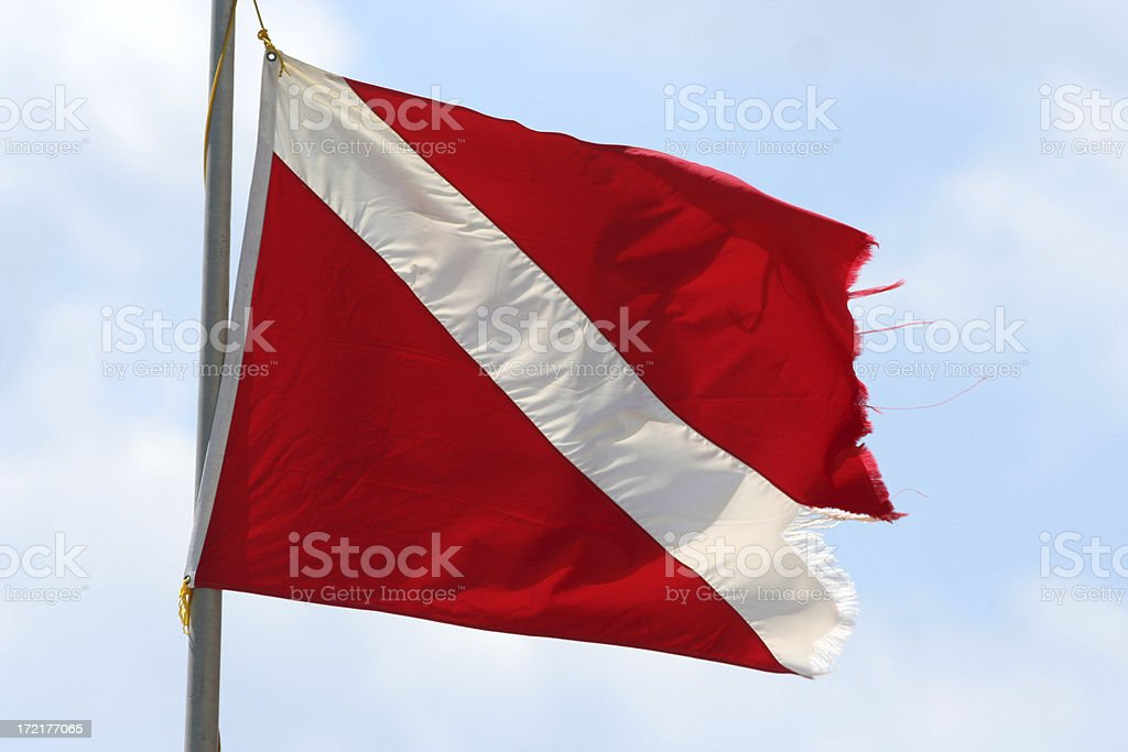 Diving Flag royalty-free stock photo