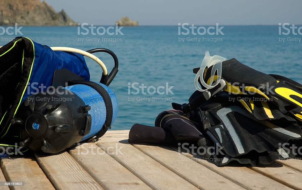 Diving gear stock photo