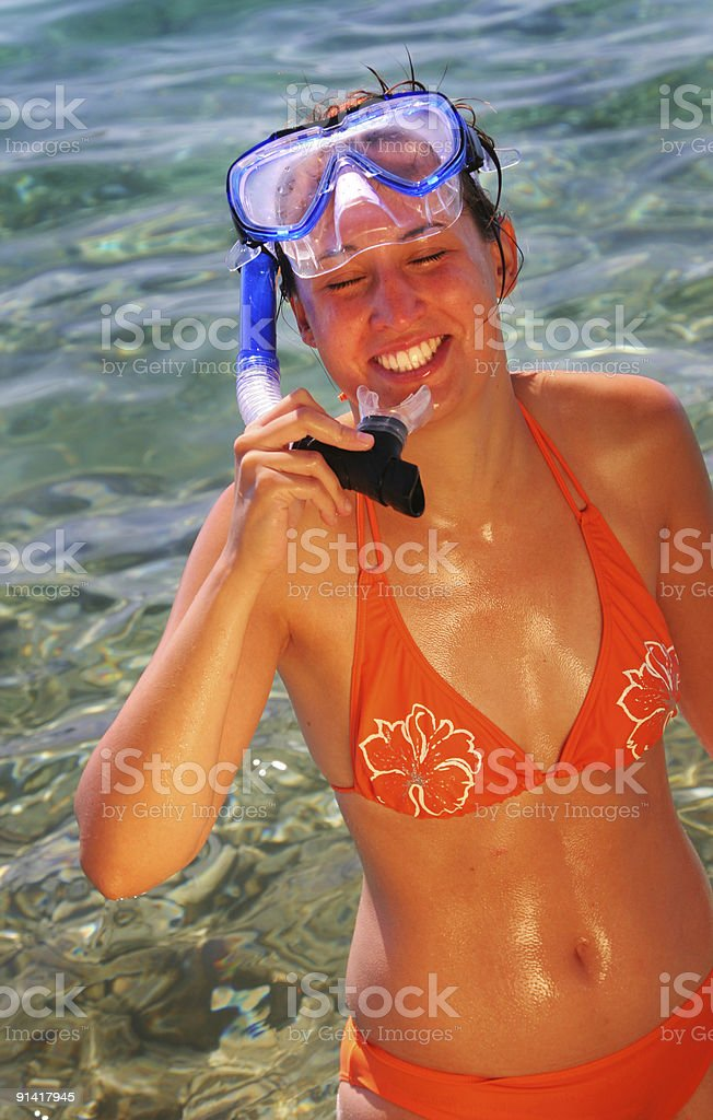 Diving goggles royalty-free stock photo