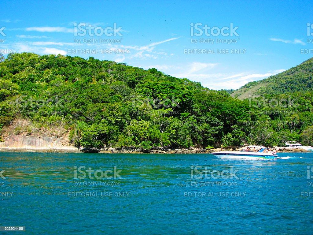 Diving in Angra dos Reis, Rio de Janeiro, Brazil stock photo