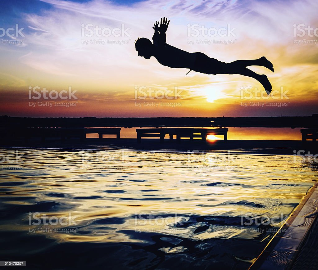 Diving In stock photo