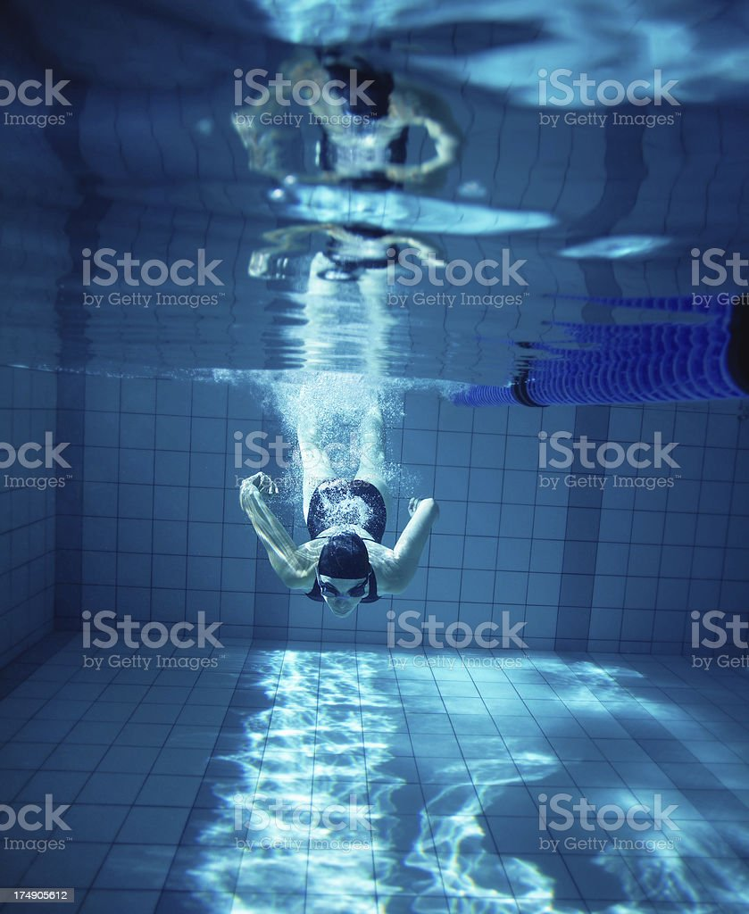 Diving into the deep royalty-free stock photo