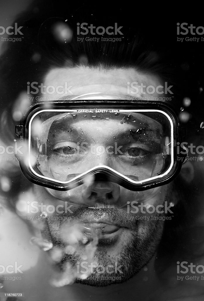 Diving Mask in Bath stock photo