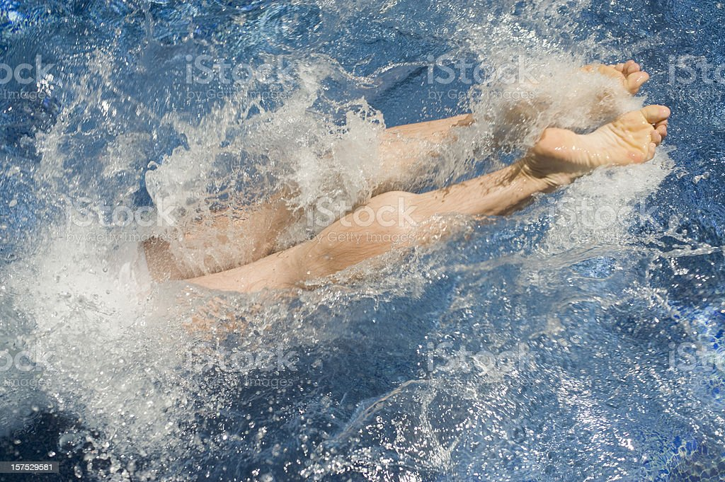 Diving royalty-free stock photo