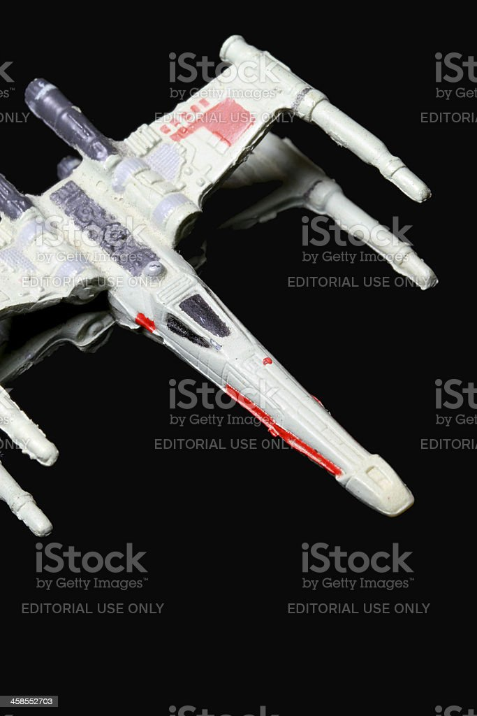 Diving X-Wing royalty-free stock photo