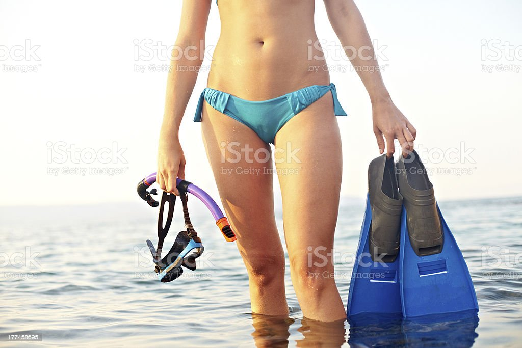 Diving-lover royalty-free stock photo