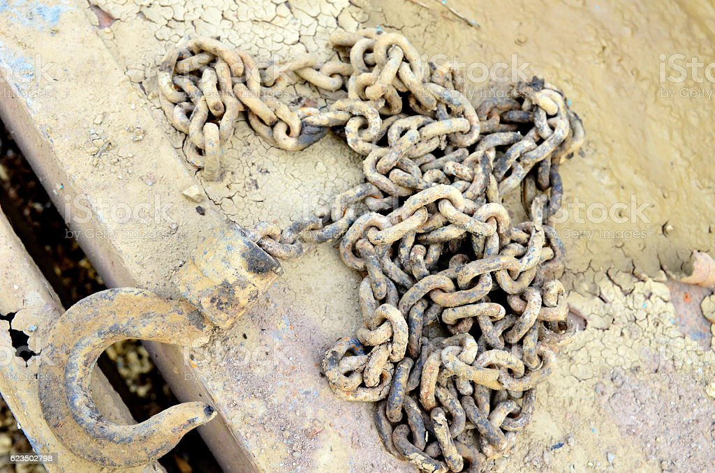 Division chains mud stock photo