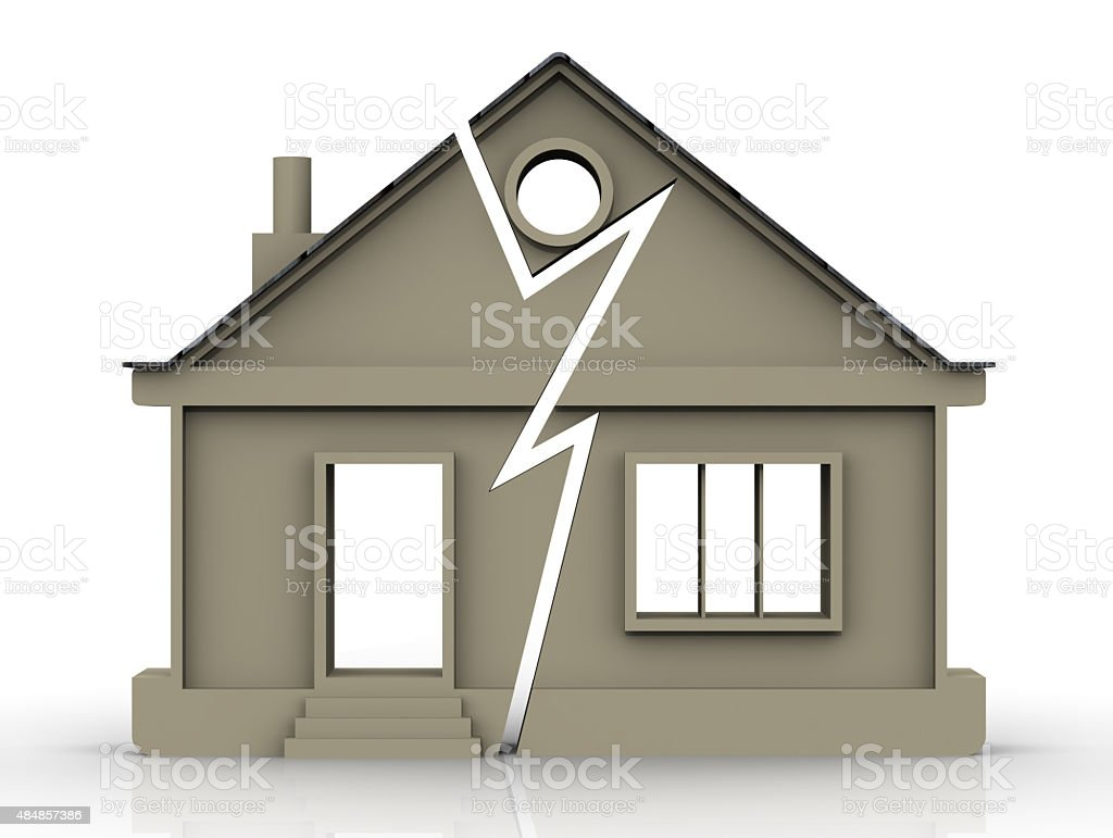 Division of Property. Concept stock photo