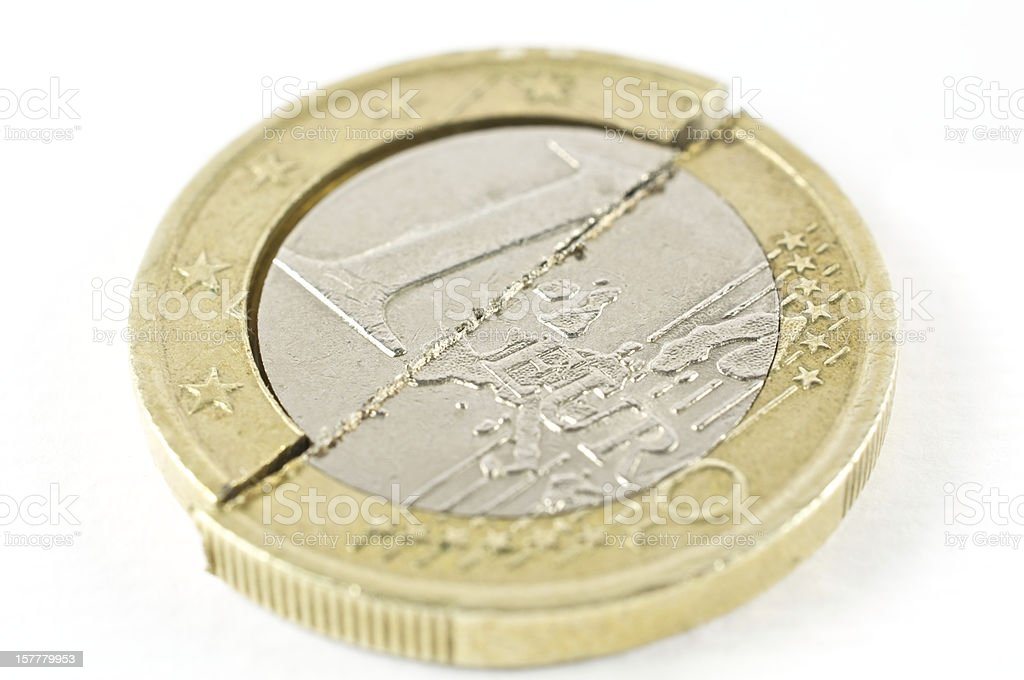 division of the single European currency royalty-free stock photo