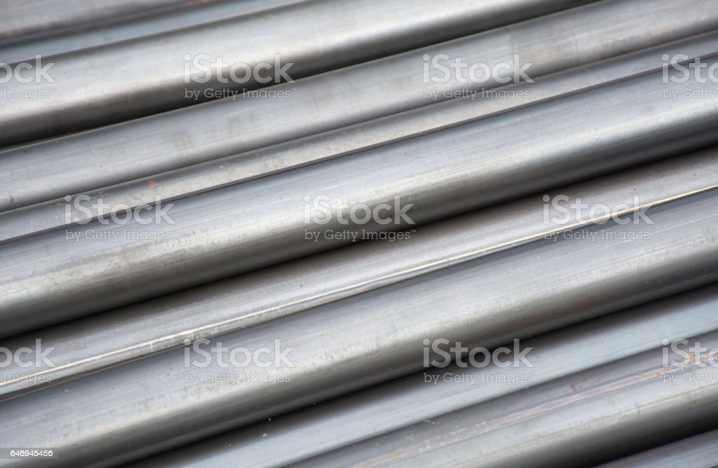 Division round steel pipe in Factory ,Texture background stock photo