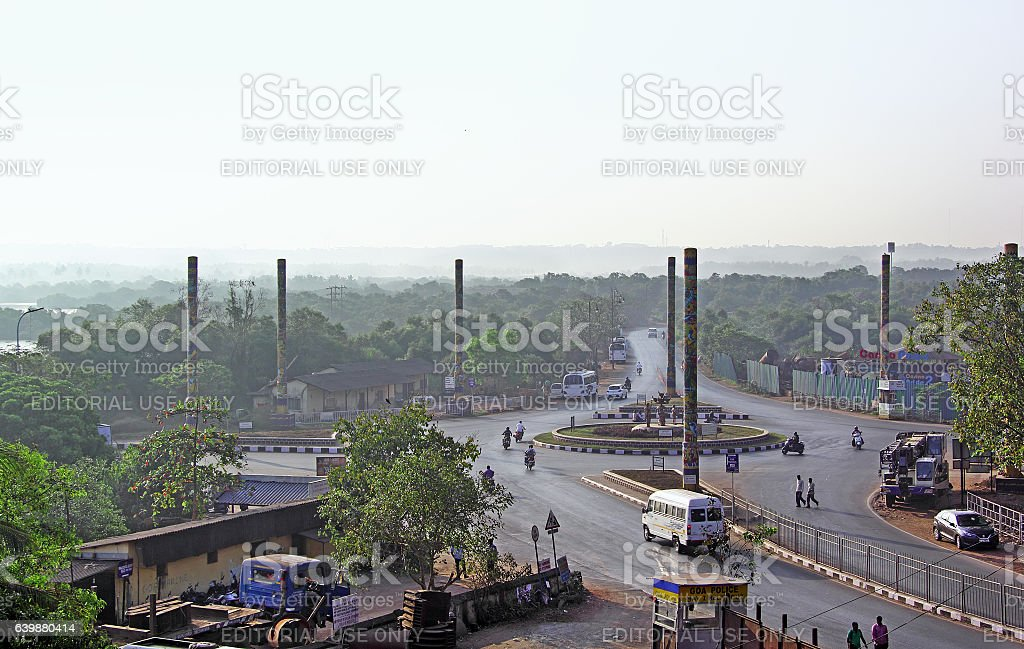 Divja Traffic Circle stock photo